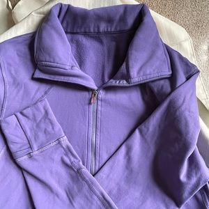 Lululemon engineered warm purple half zip pullover
